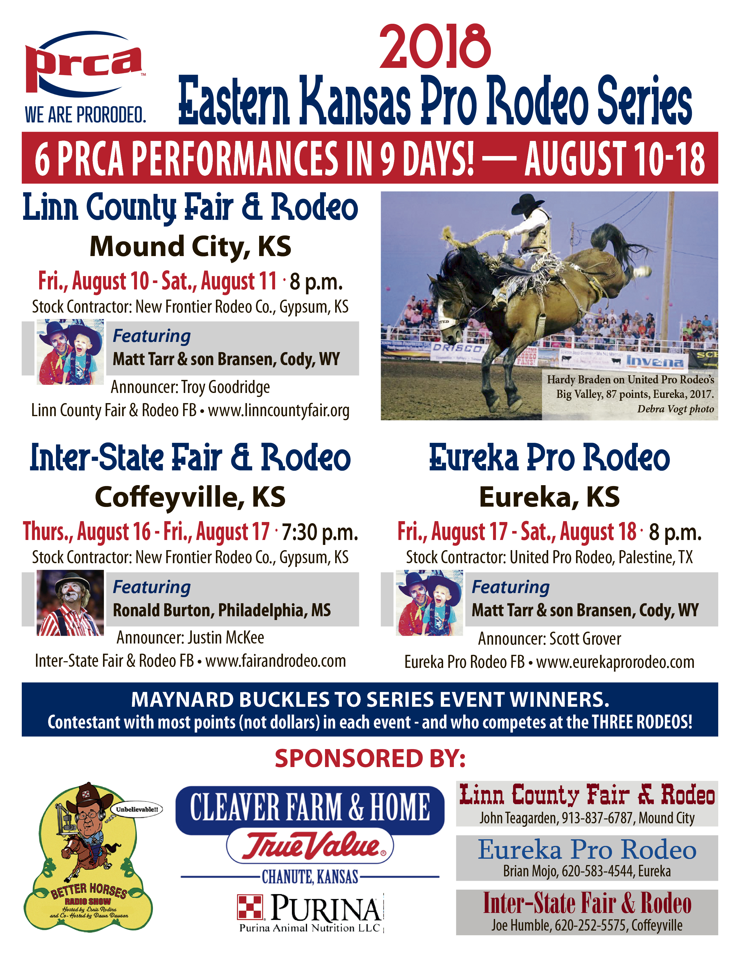 2018 Eastern Kansas Pro Rodeo Series Better Horses